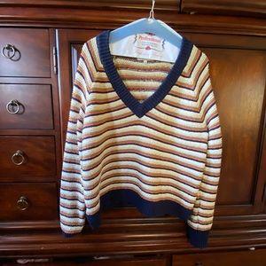 Oversized v neck sweater